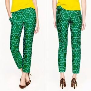 J Crew Collection Green Cafe Wool Silk Capris 4